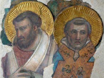 Restauro del frammento vaticano di Giotto